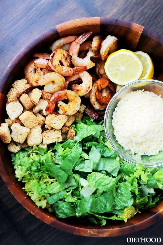 Shrimp Salad Dressing  Grilled Shrimp Caesar Salad with Homemade Light Caesar