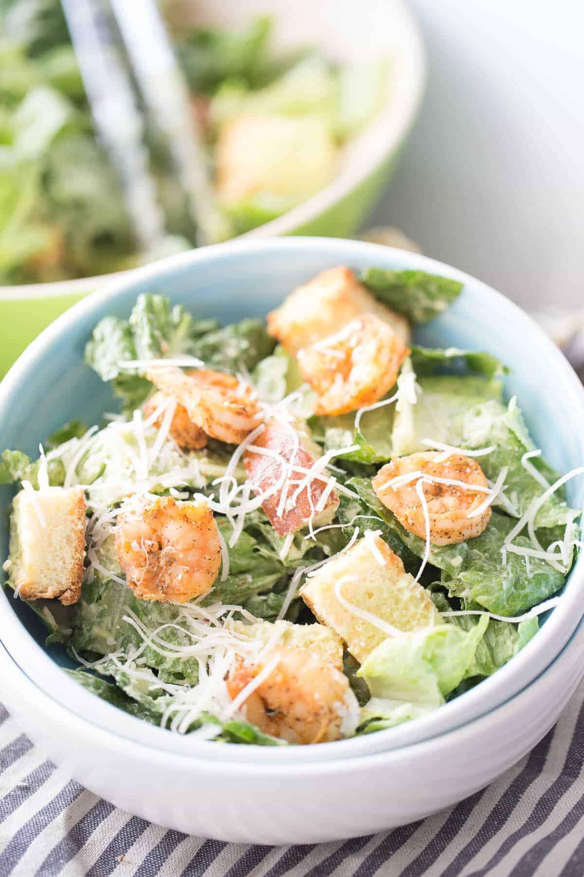 Shrimp Salad Dressing  Shrimp Caesar Salad with Avocado Dressing LemonsforLulu