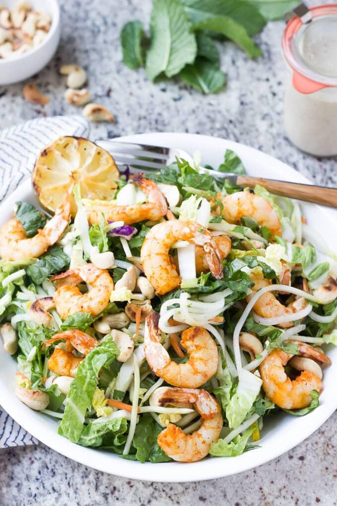 Shrimp Salad Dressing  Thai Shrimp Salad Wicked Spatula