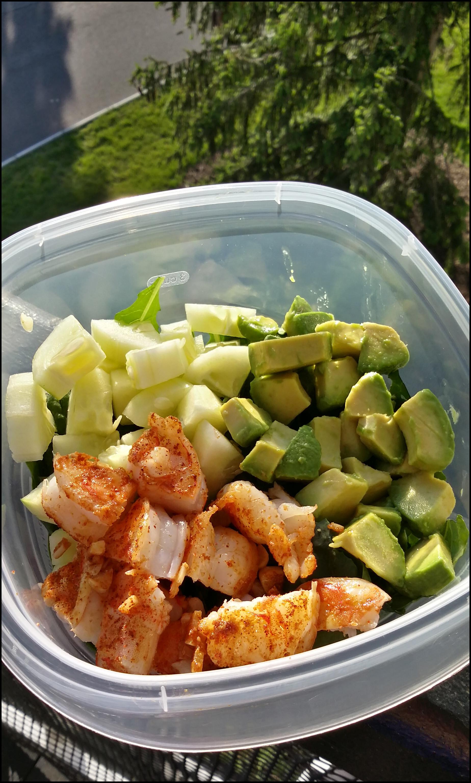 Shrimp Salad Dressing  Spicy Shrimp and Avocado Salad with Tahini Dressing Oh