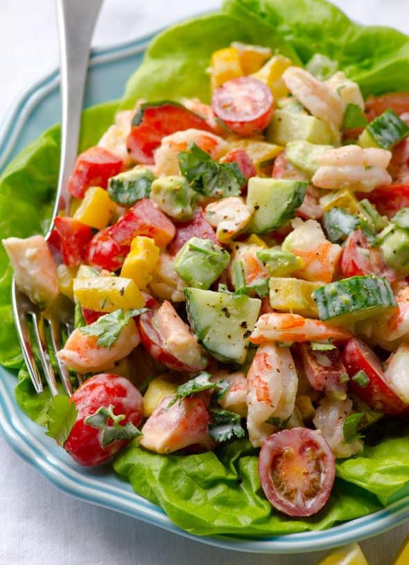 Shrimp Salad Dressing  Shrimp Avocado Tomato Salad iFOODreal Healthy Family