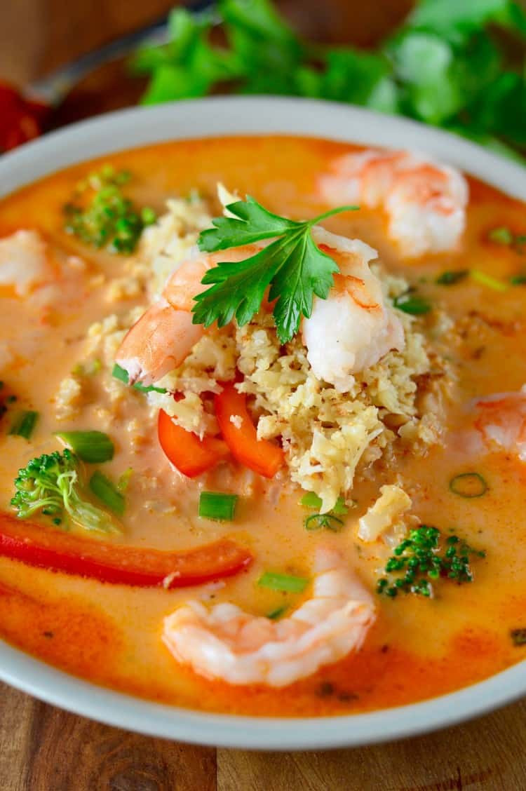 Shrimp Soup Recipes  Coconut Red Curry Shrimp Soup Guest Blog by Real Food