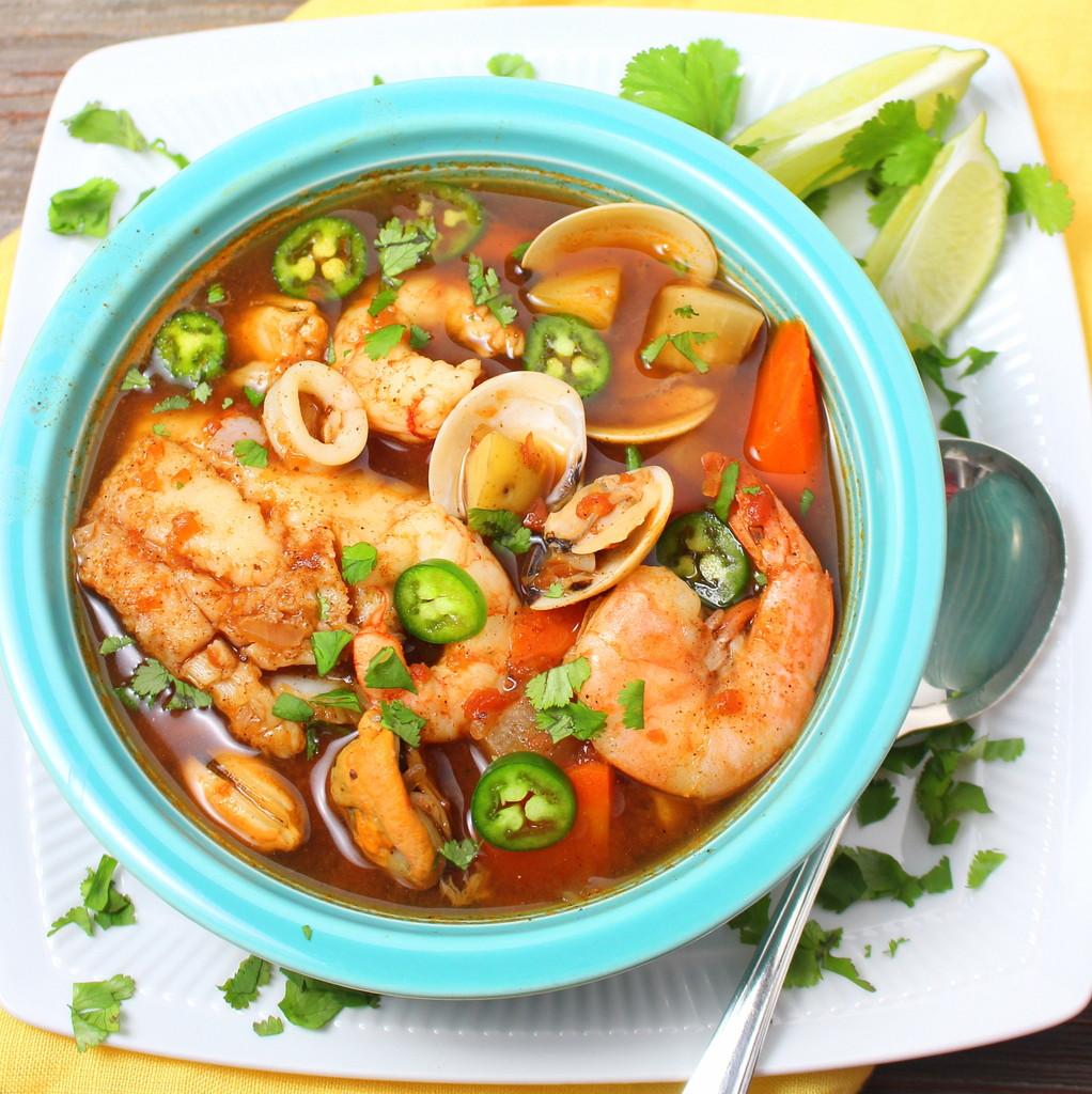Shrimp Soup Recipes  Caldo de Mariscos Mexican Seafood Soup BloggerCLUE