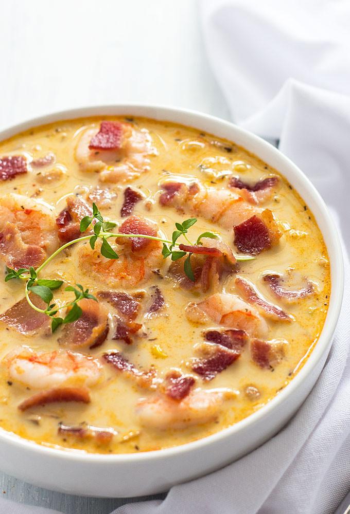 Shrimp Soup Recipes  shrimp and corn soup with half and half