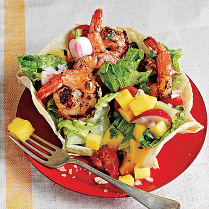 Shrimp Taco Salad  Chipotle Rubbed Shrimp Taco Salad Scampi s Curacao