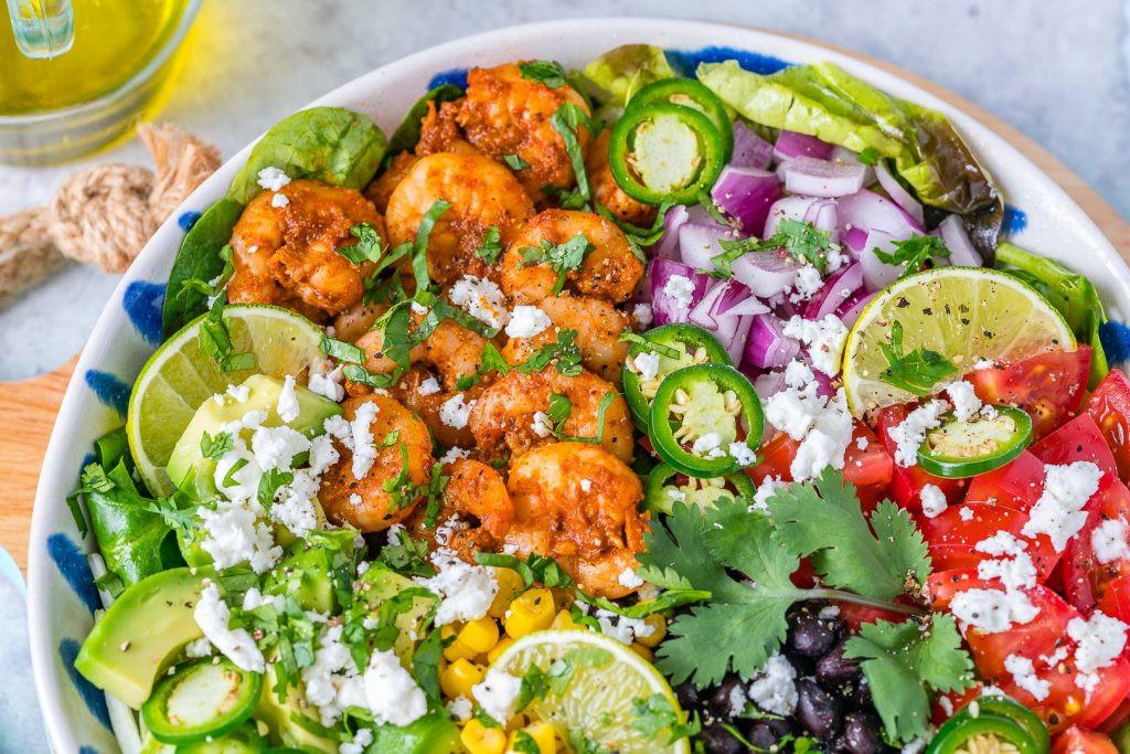 Shrimp Taco Salad  Avocado Lime Shrimp Taco Salad is Clean Eating Success