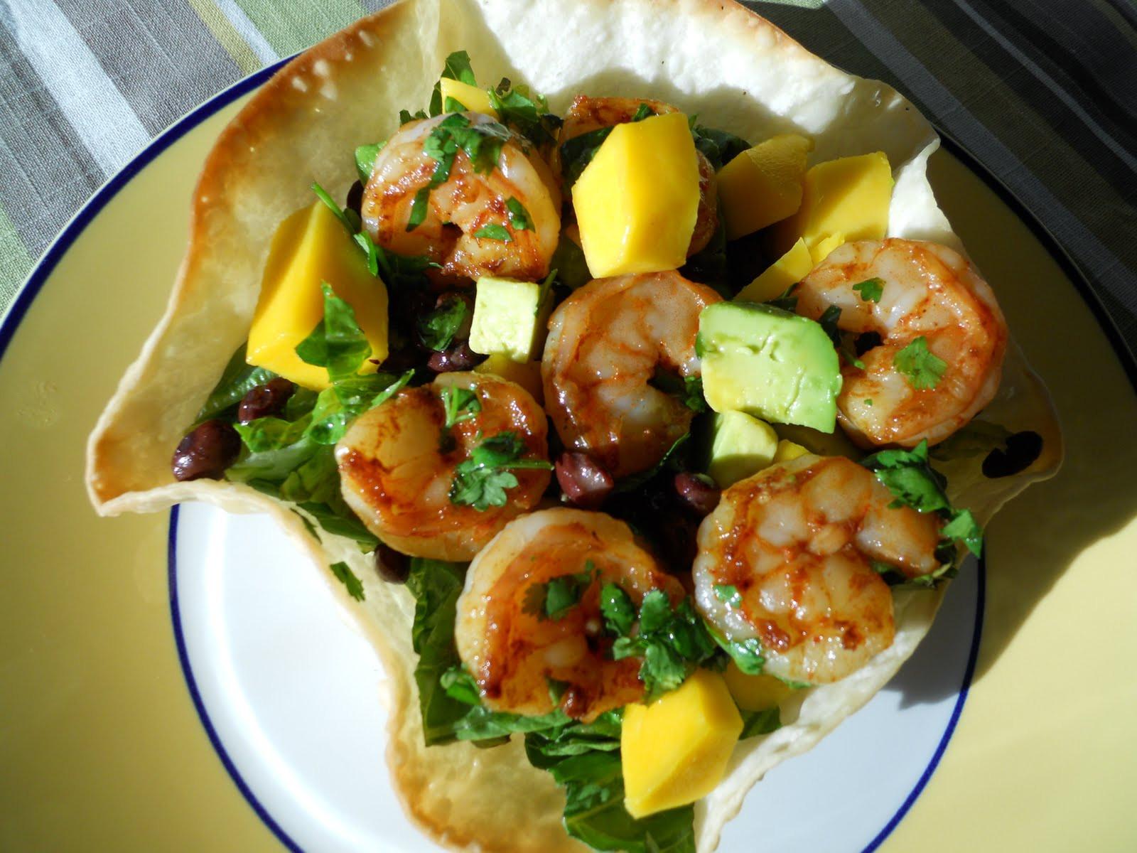 Shrimp Taco Salad  See Aimee Cook Shrimp Taco Salad
