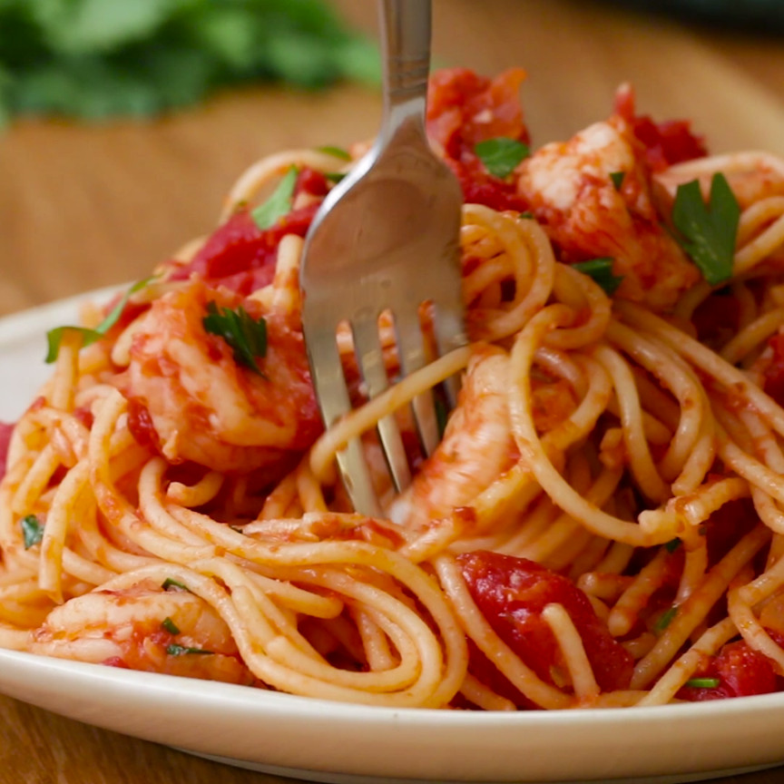 Shrimp Tomato Pasta  e Pot Tomato Garlic Shrimp Pasta Should Be Your Next