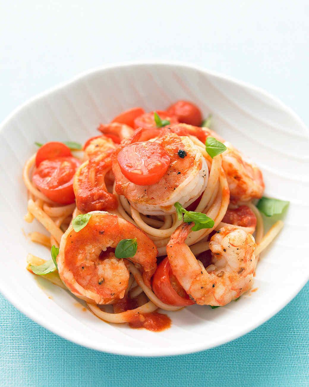 Shrimp Tomato Pasta  Shrimp Tomato and Basil Pasta
