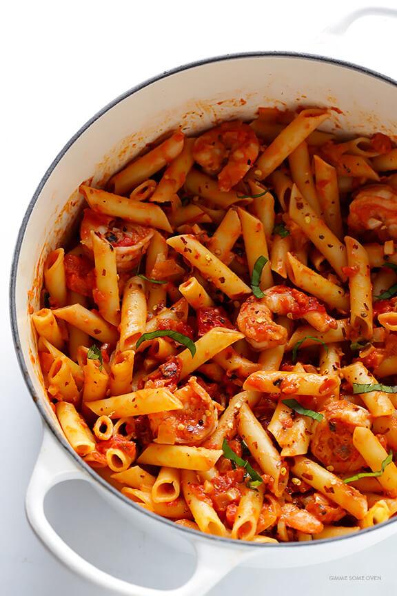 Shrimp Tomato Pasta  Shrimp Pasta with Creamy Tomato Basil Sauce