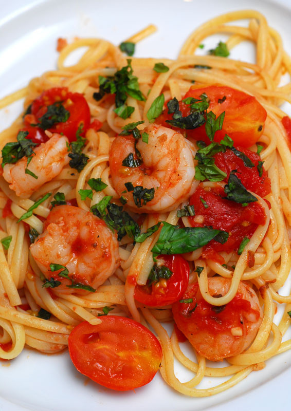 Shrimp Tomato Pasta  Sugar & Spice by Celeste Shrimp Tomato and Basil Pasta