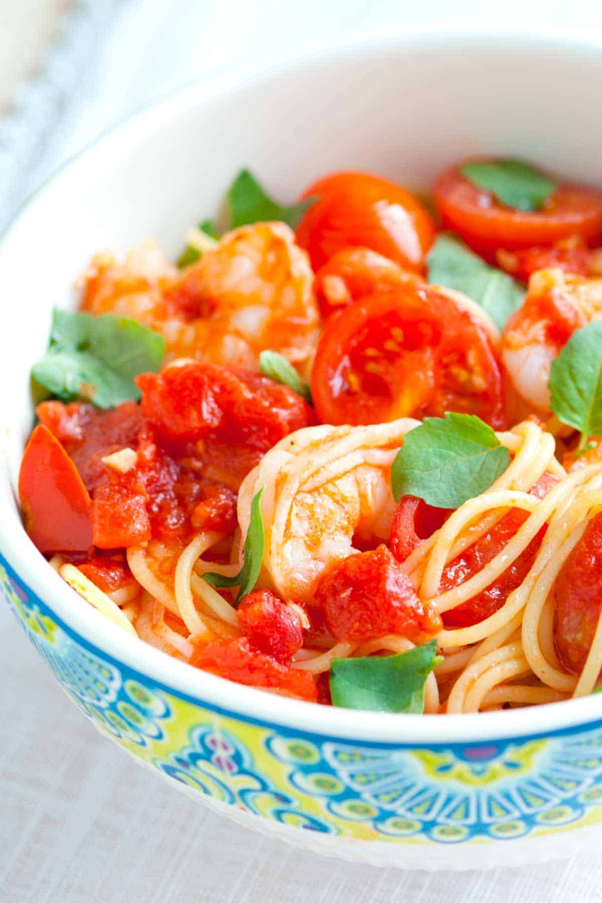 Shrimp Tomato Pasta  15 Minute Shrimp Pasta Recipe with Tomato and Basil