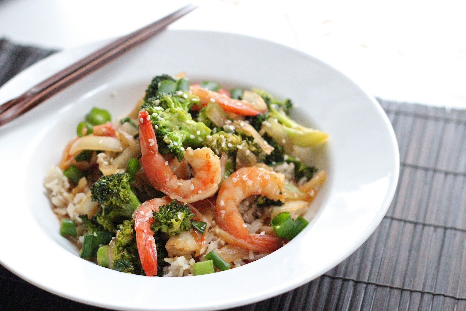 Shrimp With Broccoli  Sesame shrimp with broccoli