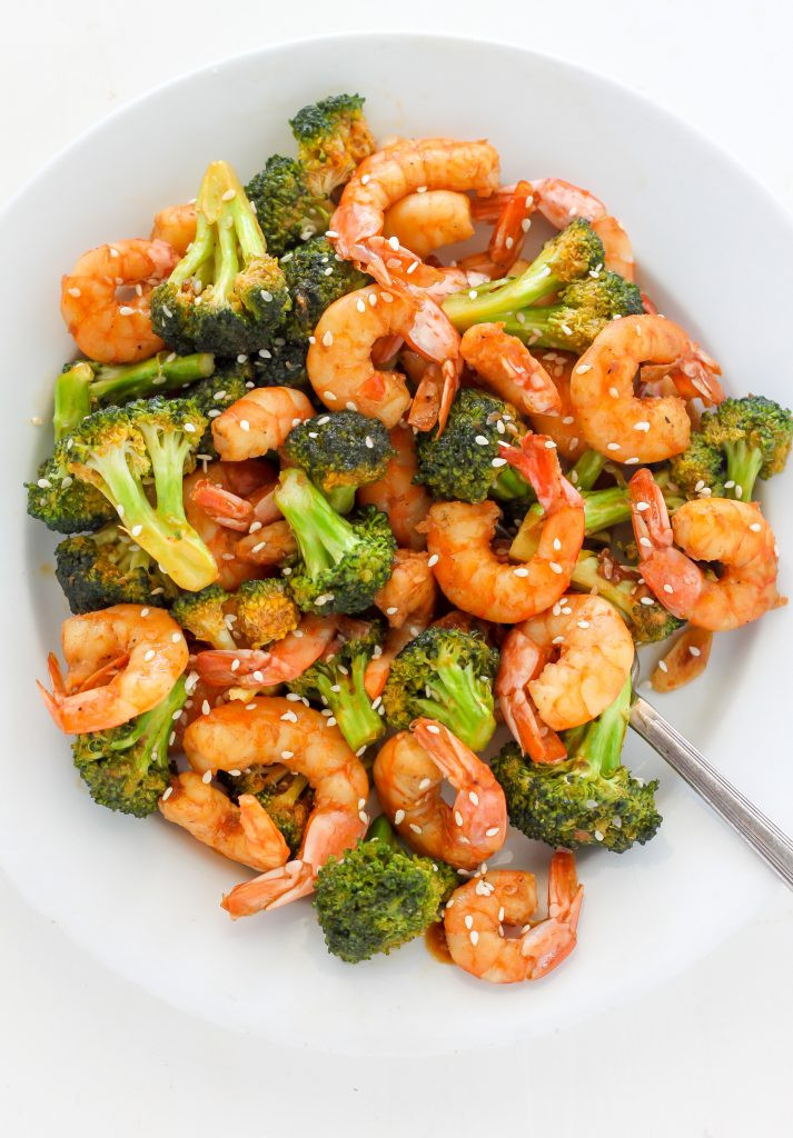 Shrimp With Broccoli  20 Minute Skinny Sriracha Shrimp and Broccoli Baker by