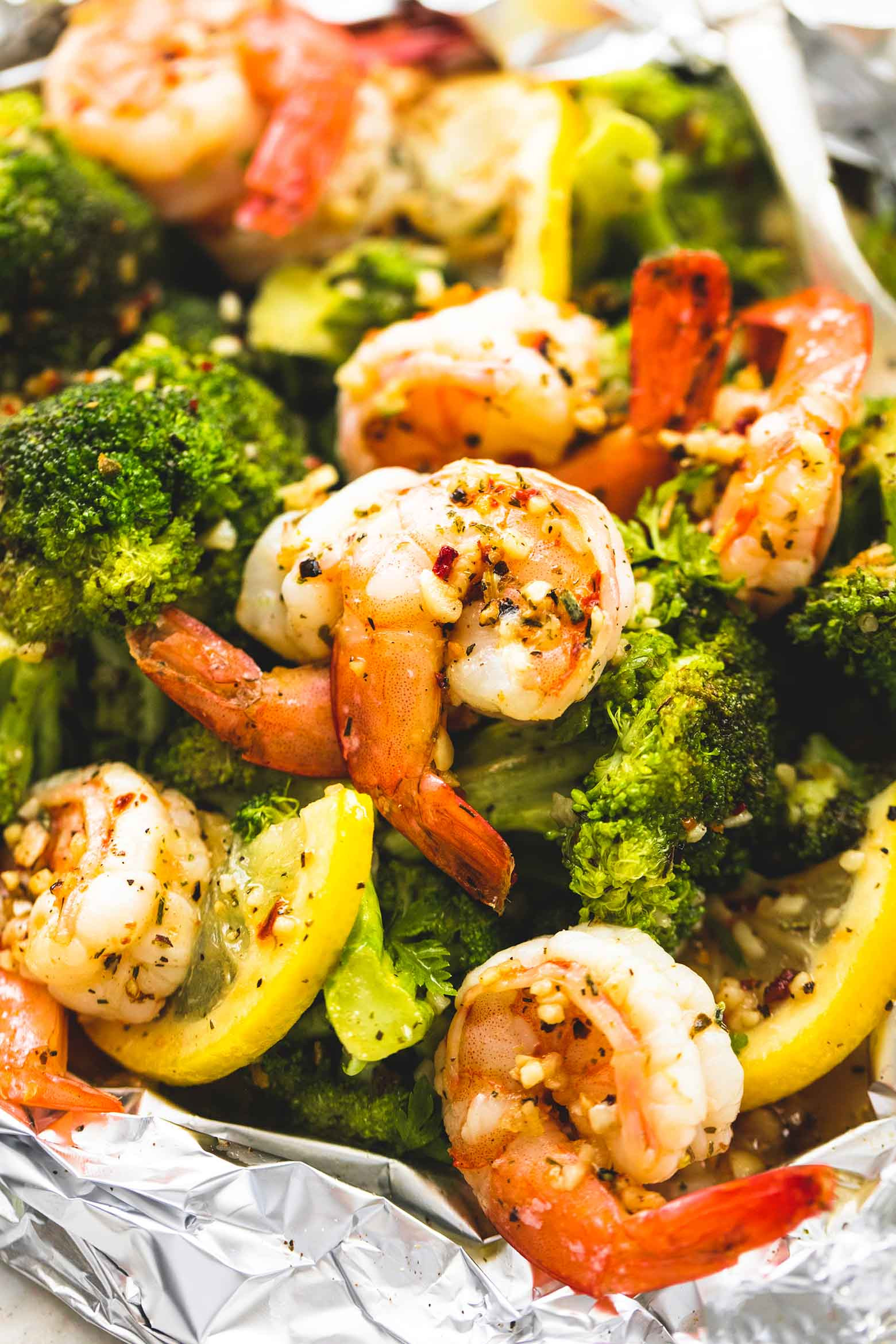 Shrimp With Broccoli  Lemon Herb Shrimp and Broccoli Foil Packs