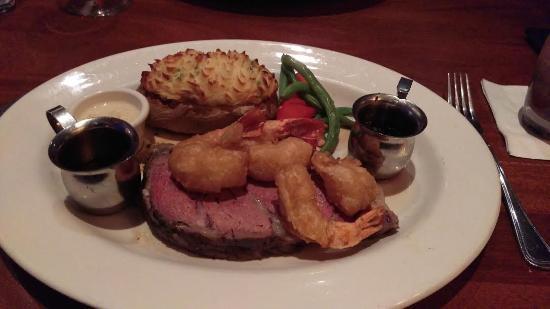 Shrimps And Prime Rib  Oscar Filet Nom Nom Picture of The Keg Steakhouse & Bar