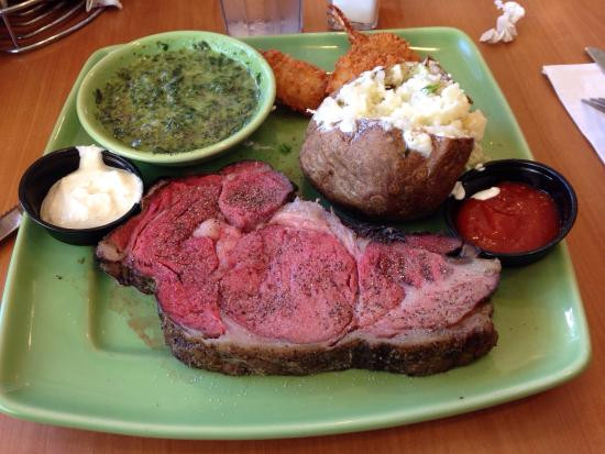 Shrimps And Prime Rib  e of Carrow s flashy sparkling glasses Picture of