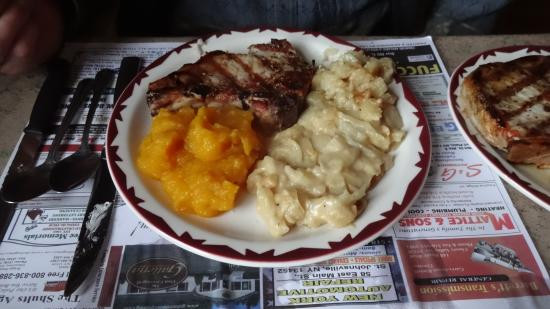 Side Dishes For Grilled Pork Chops  Grilled Pork Chops & Side Dishes Picture of Saltsman s