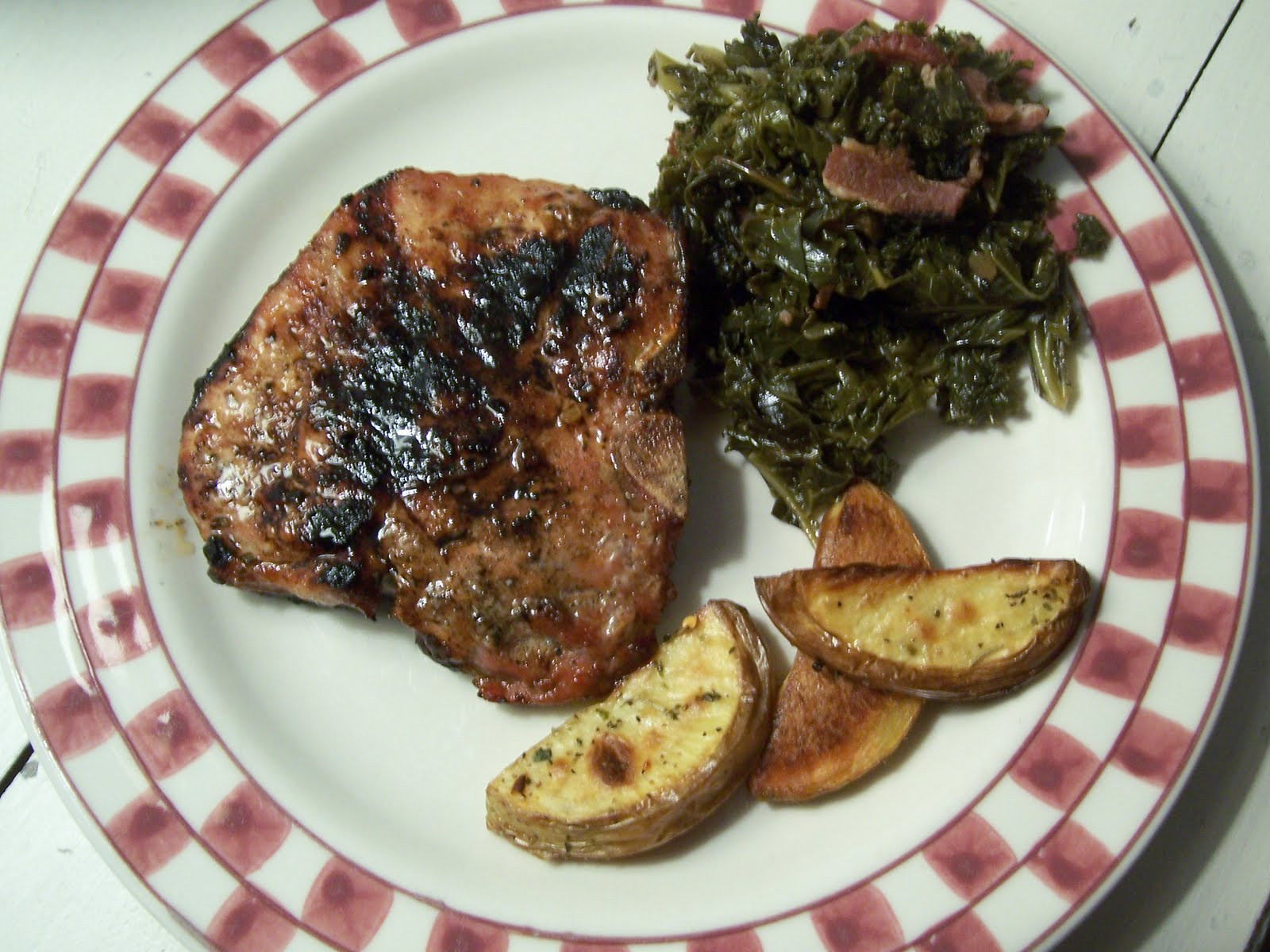 Side Dishes For Grilled Pork Chops  Skinny Eats Cleveland Slow Braised Winter Greens