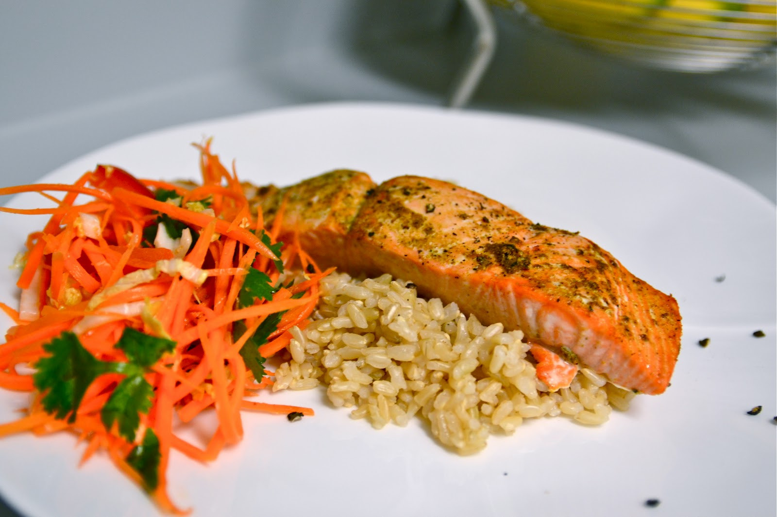 Side Dishes For Salmon  Explorations of an Amateur Cook Curry Rubbed Salmon with
