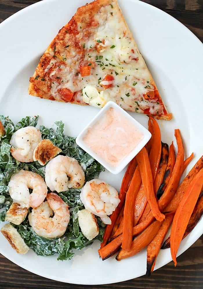 Side Dishes For Shrimp  Baked Sweet Potato Fries Kale Caesar Salad 2 healthy