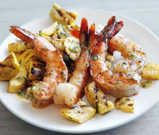 Side Dishes For Shrimp  Grilled Shrimp and Summer Squash