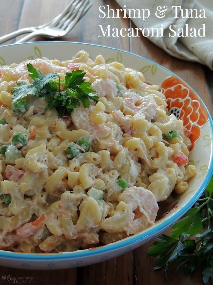 Side Dishes For Shrimp  Shrimp & Tuna Macaroni Salad