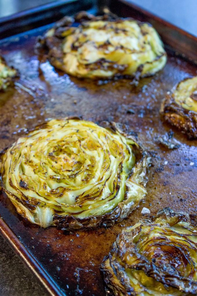 Side Dishes For Steak Dinner  Crispy Roasted Cabbage Steaks Dinner then Dessert