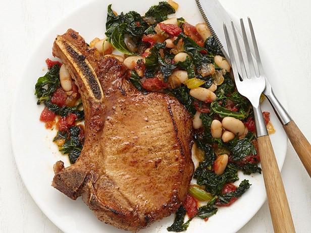 Sides With Pork Chops  Cajun Pork Chops with Kale