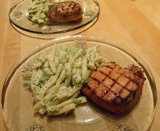 Sides With Pork Chops  Pork Chops and Broccoli Pasta Tim & Victor s Totally