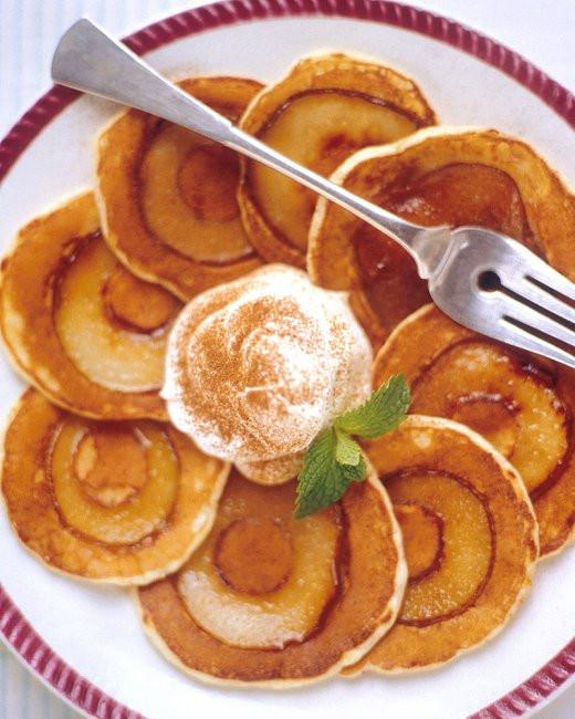Silver Dollar Pancakes  Silver Dollar Pear Pancakes Recipe from Martha Stewart