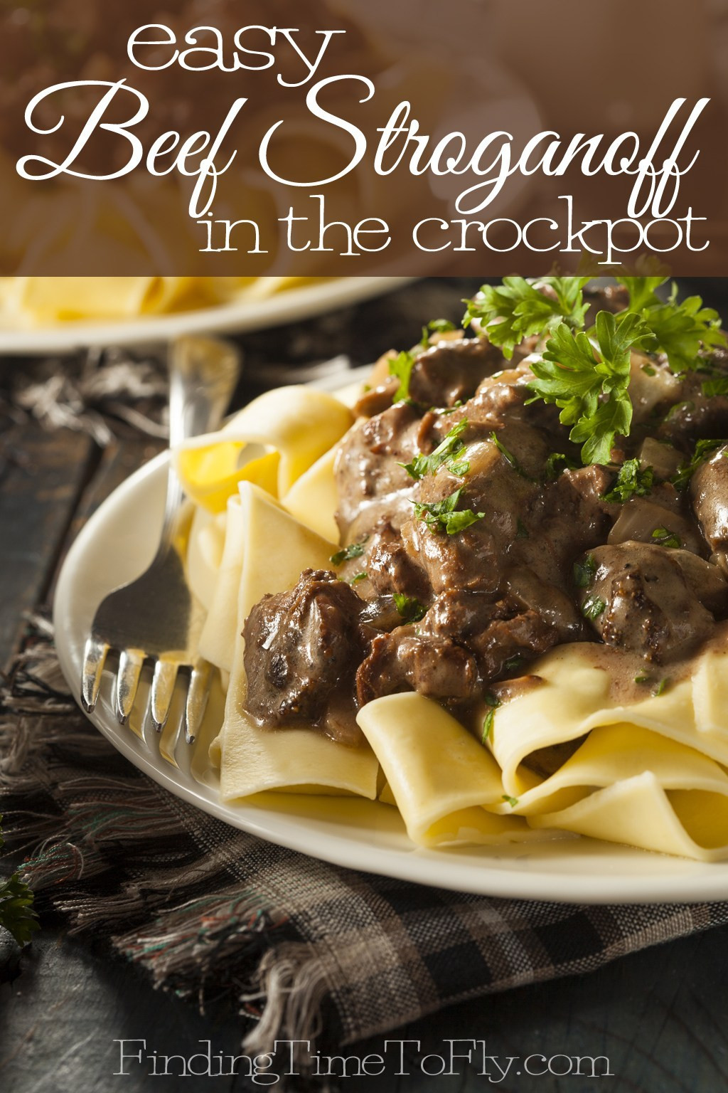 Simple Beef Stroganoff  Easy Beef Stroganoff in the Crock Pot Finding Time To Fly
