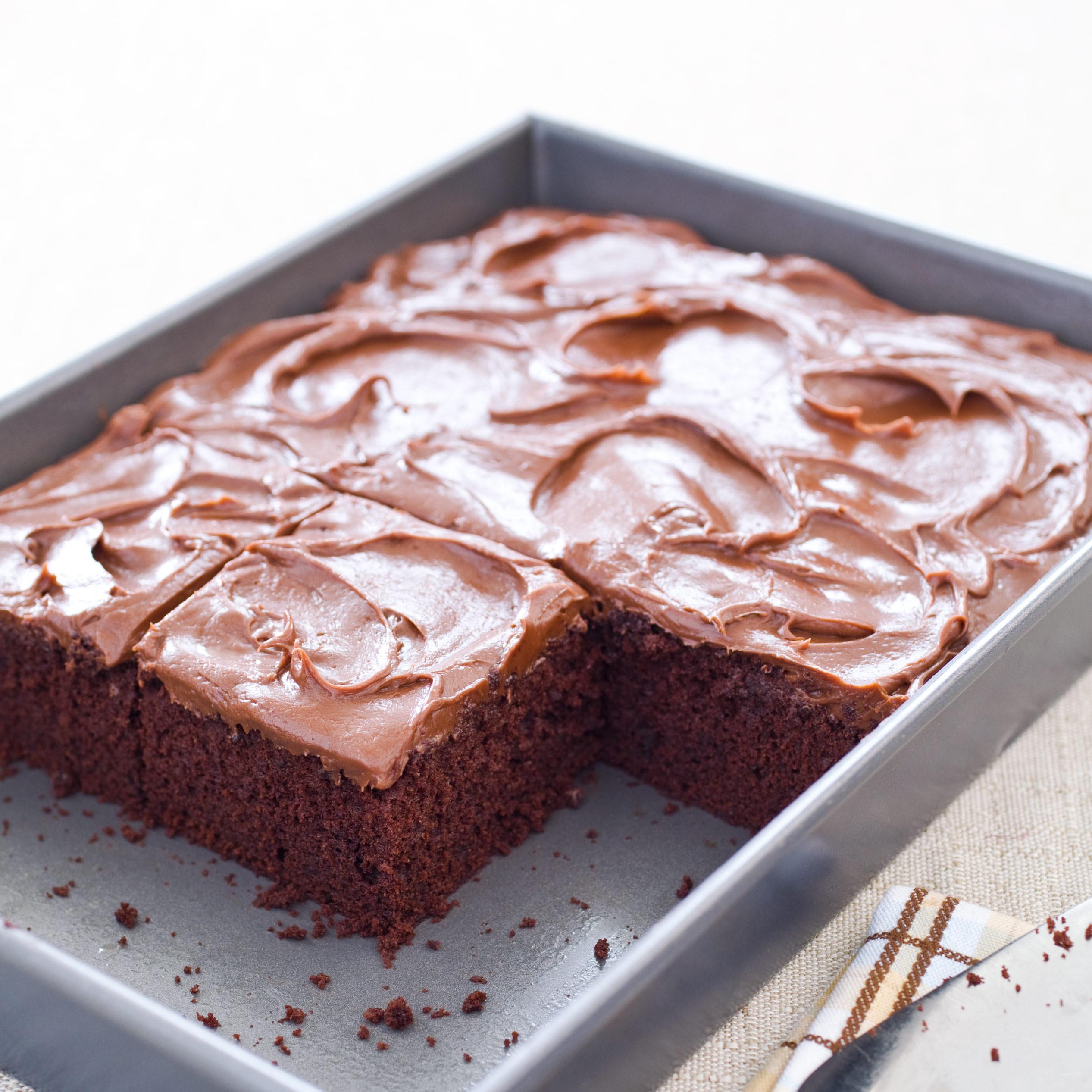 Simple Cake Recipe  Simple Chocolate Sheet Cake