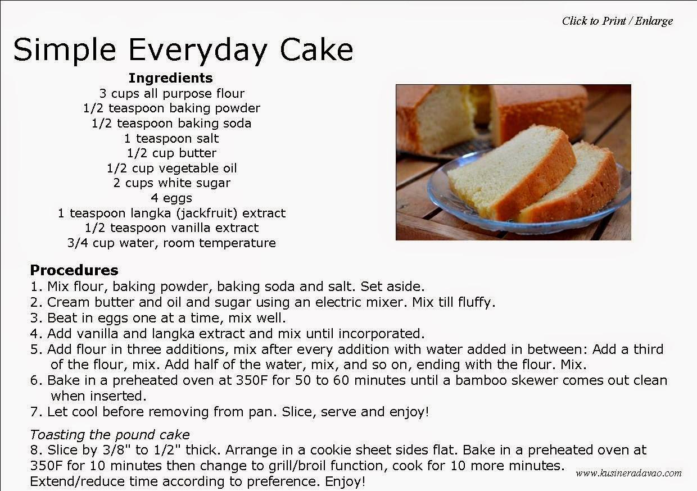 Simple Cake Recipe  Simple Everyday Cake
