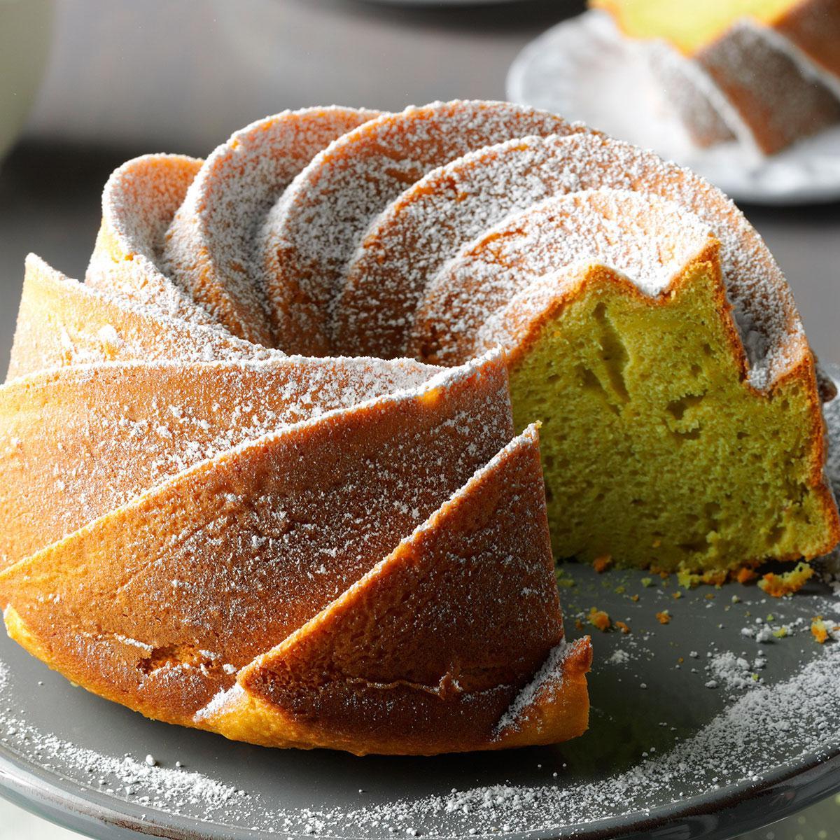Simple Cake Recipe  Easy Pistachio Bundt Cake Recipe