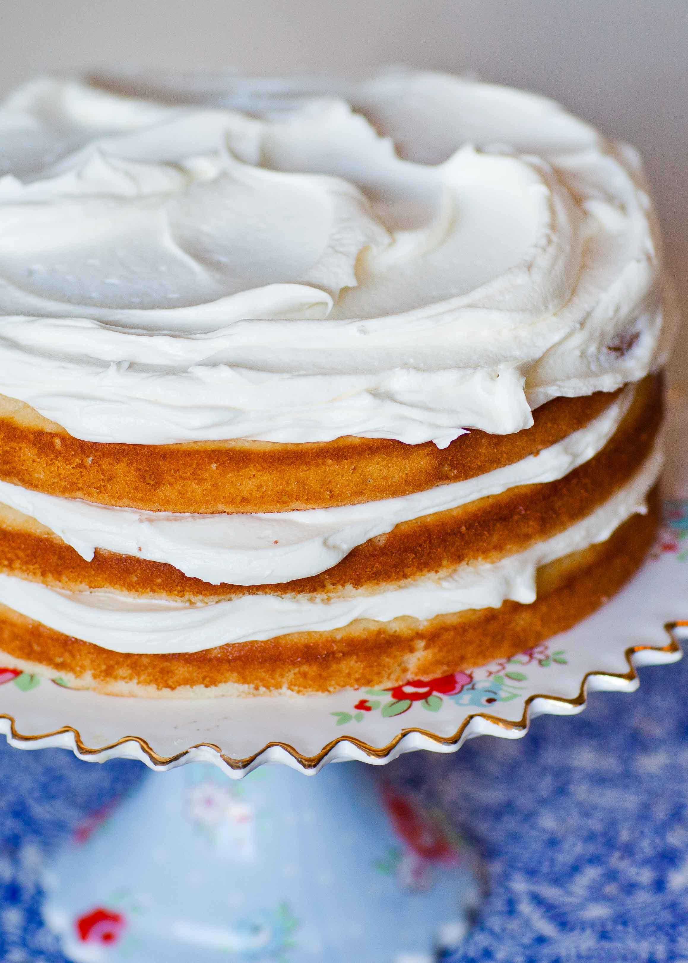 Simple Cake Recipe  Simple Vanilla Cake Recipe Tatyanas Everyday Food