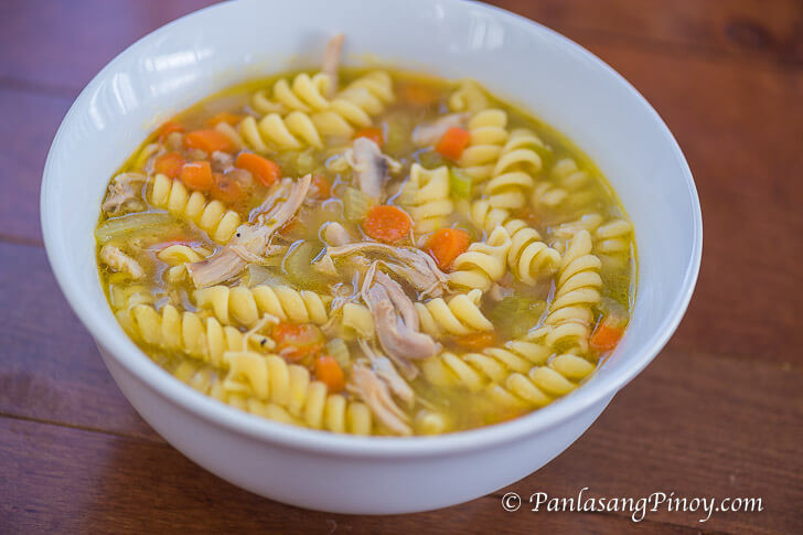 Simple Chicken Noodle Soup  Simple Chicken Noodle Soup Recipe Panlasang Pinoy