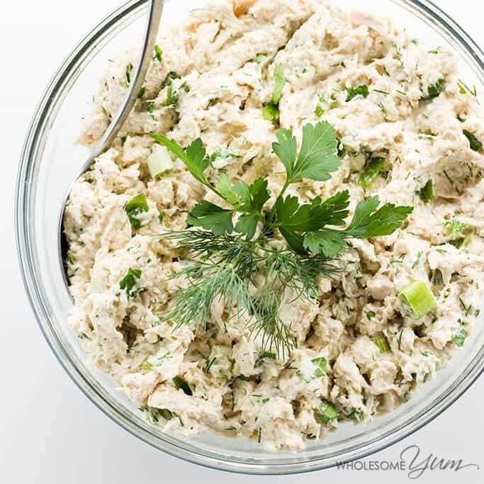 Simple Chicken Salad Recipe  Easy Keto Low Carb Chicken Salad Recipe Paleo