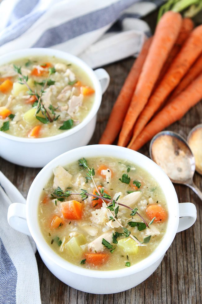 Simple Chicken Soup Recipe  Easy Chicken and Rice Soup Recipe