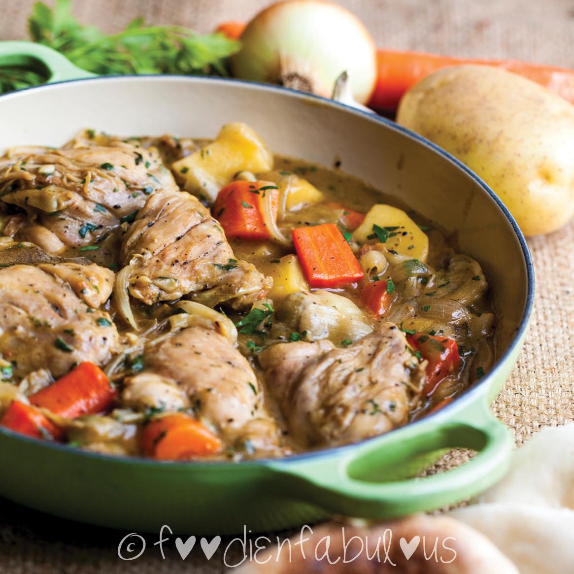 Simple Chicken Stew Recipe  Easy Braised Chicken Stew