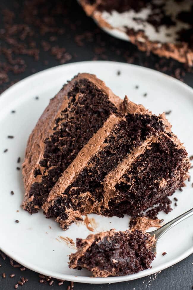 Simple Chocolate Cake  easy chocolate buttercream icing