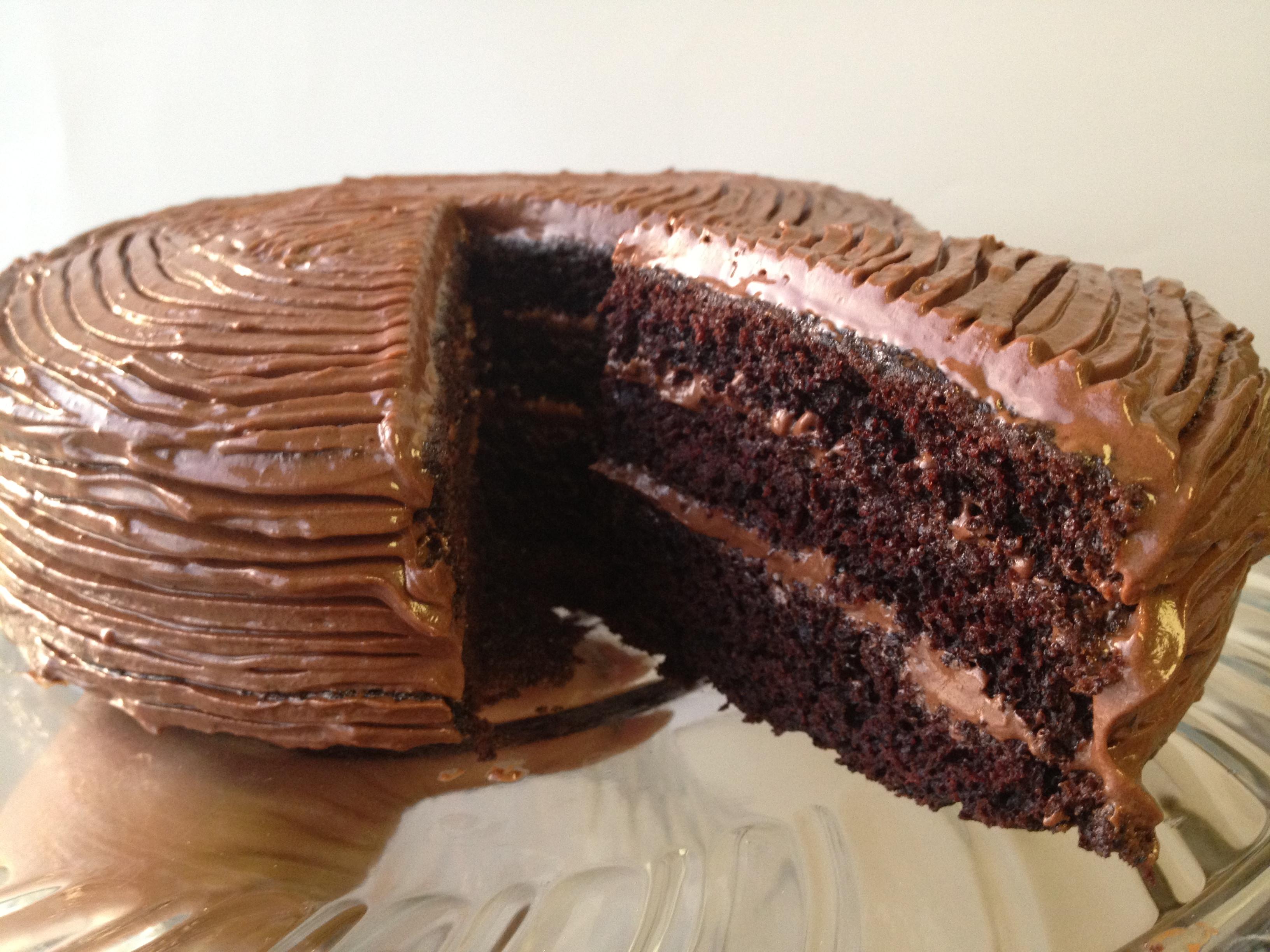 Simple Chocolate Cake  June 2013 easy cooking n baking