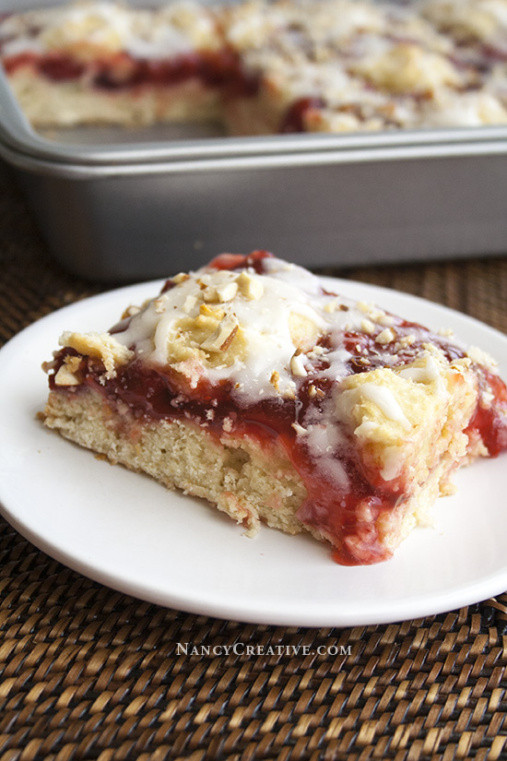 Simple Coffee Cake  Easy Cherry Almond Coffee Cake