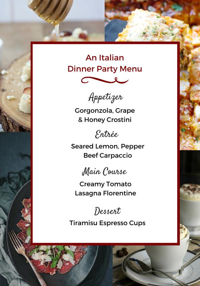 Simple Dinner Party Menu  Easy Feasts An Italian Dinner Party Menu Pretty Mayhem