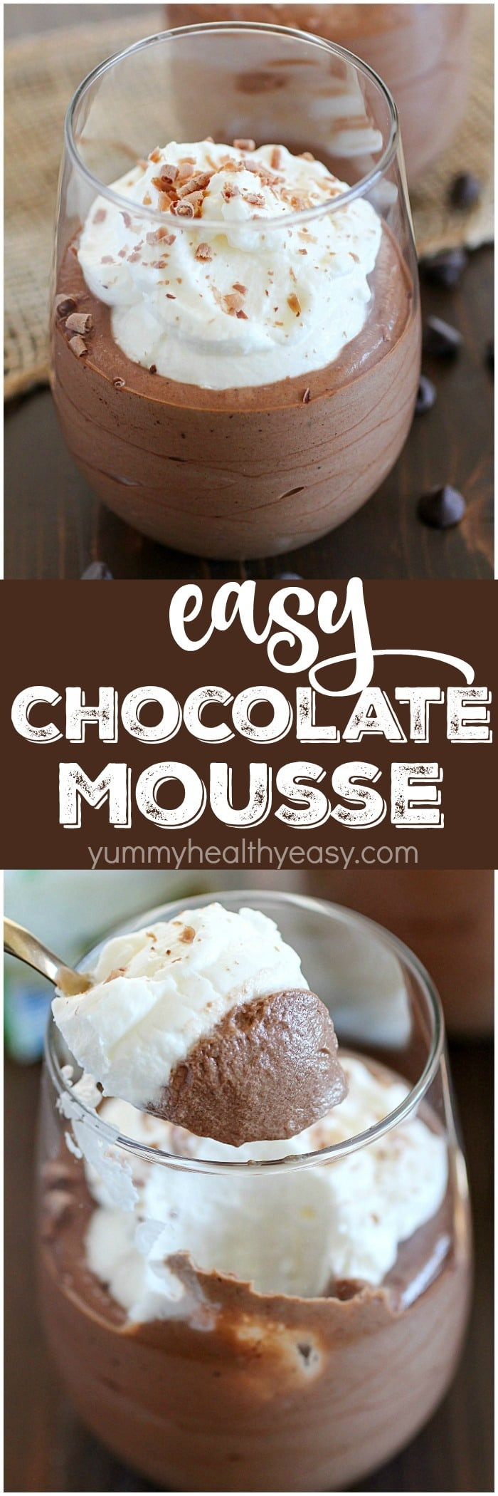 Simple Ingredients Dessert  Easy Chocolate Mousse Recipe Yummy Healthy Easy