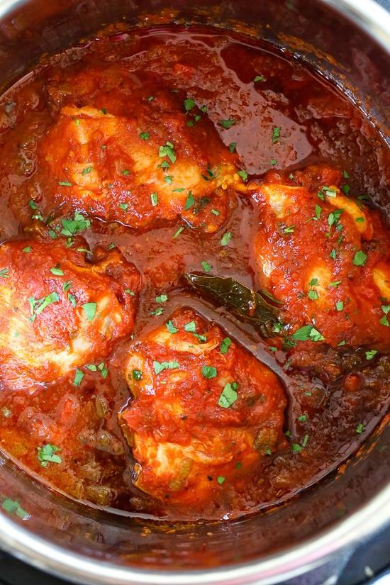 Simple Instant Pot Chicken Recipes  Chicken Cacciatore Recipe Instant Pot