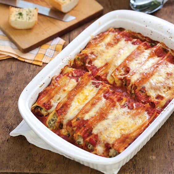 Simple Italian Recipes  Cheesy Manicotti Recipe