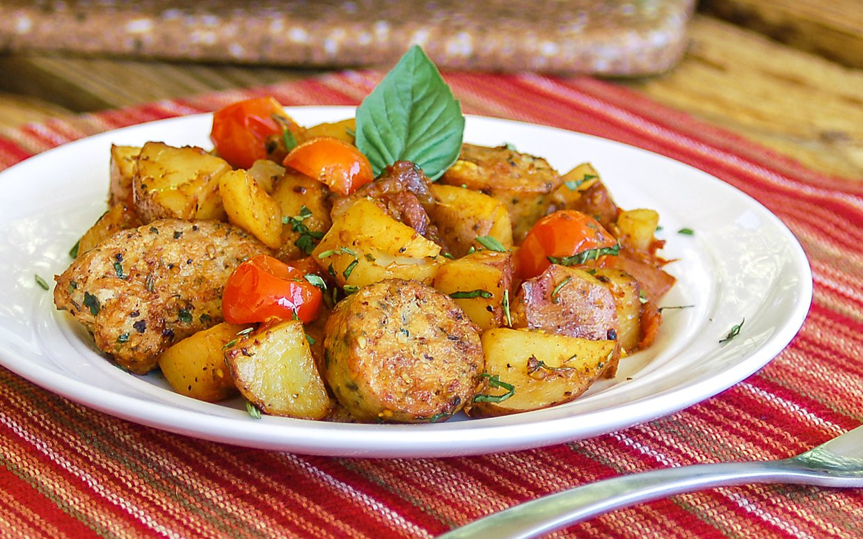 Simple Italian Recipes  Easy e Skillet Meal Hearty Italian Sausage and Potatoes