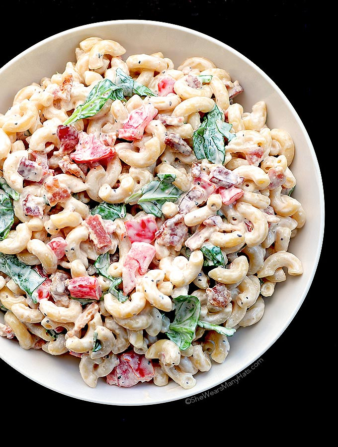 Simple Macaroni Salad  BLT Macaroni Salad Recipe