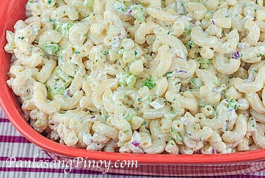 Simple Macaroni Salad  Easy Macaroni Salad Panlasang Pinoy